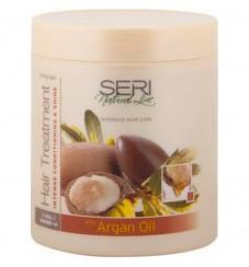 SERI Защитен крем за изтощена, без блясък коса с Мароканско арганово масло 1000 мл.