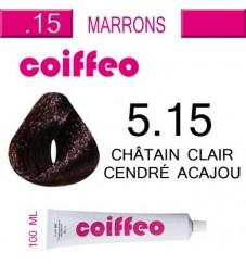 Coiffeo - 5.15 Пепелно махагон тъмно кестеняво - 100мл.