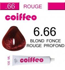 Coiffeo - 6.66 Интензивно червено тъмно русо 100 мл.