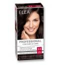 """ELEA Боя за коса """"Elea Professional Colour & Care"""" - № 3/0 Тъмно кафяв"""