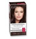 "ELEA Боя за коса ""Elea Professional Colour & Care"" - № 3/4 Тъмен кестен"