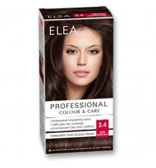 "ELEA Боя за коса ""Elea Professional Colour & Care"" - № 3/4 Тъмен кестен"