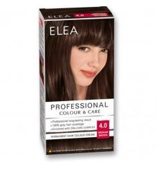 "ELEA Боя за коса ""Elea Professional Colour & Care"" - № 4/0 Средно кафяв"