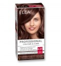 "ELEA Боя за коса ""Elea Professional Colour & Care"" - № 4/37 Кадифено кафяв"