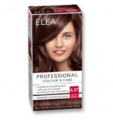 "ELEA Боя за коса ""Elea Professional Colour & Care"" - № 4/37 Кадифено кафяв"