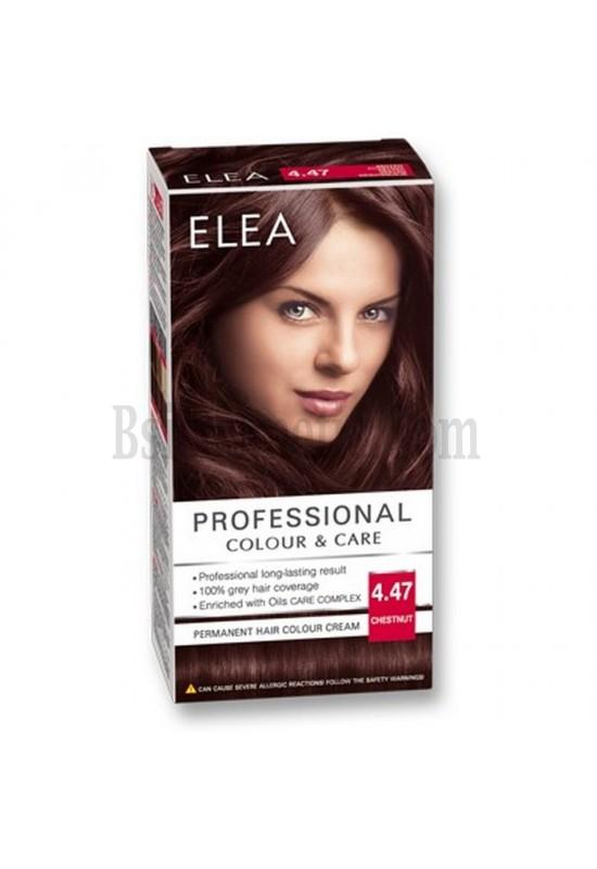"ELEA Боя за коса ""Elea Professional Colour & Care"" - № 4/47 Кестен"