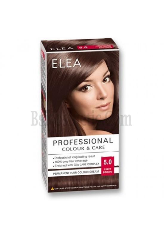 "ELEA Боя за коса ""Elea Professional Colour & Care"" - № 5/0 Светло кафяв"
