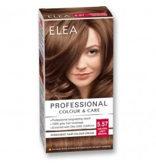 "ELEA Боя за коса ""Elea Professional Colour & Care"" - № 5/57 Златно светло кафяв"