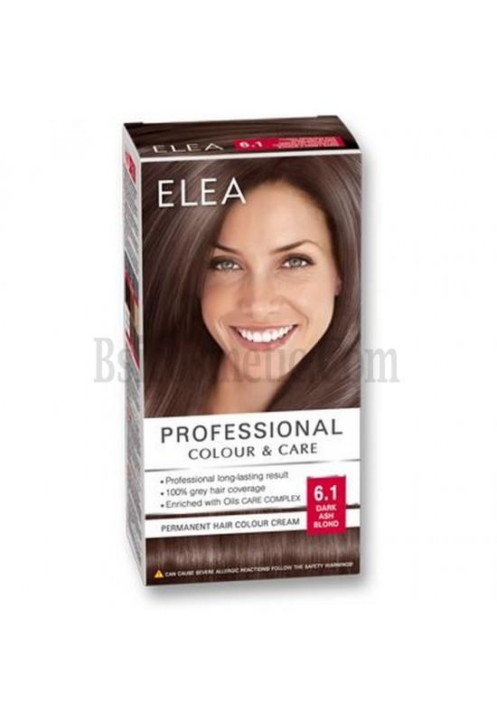"ELEA Боя за коса ""Elea Professional Colour & Care"" - № 6/1 Тъмно пепелно рус"