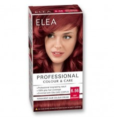 "ELEA Боя за коса ""Elea Professional Colour & Care"" - № 6/56 Светъл махагон"