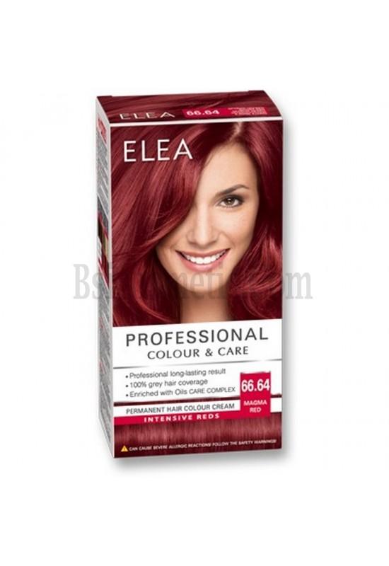 "ELEA Боя за коса ""Elea Professional Colour & Care"" - № 66/64 Огнено червен"