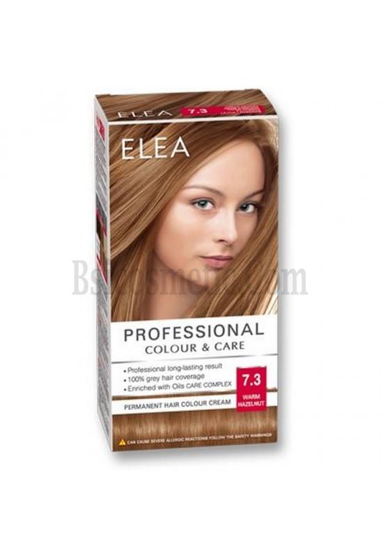 "ELEA Боя за коса ""Elea Professional Colour & Care"" - № 7/3 Топъл лешник"