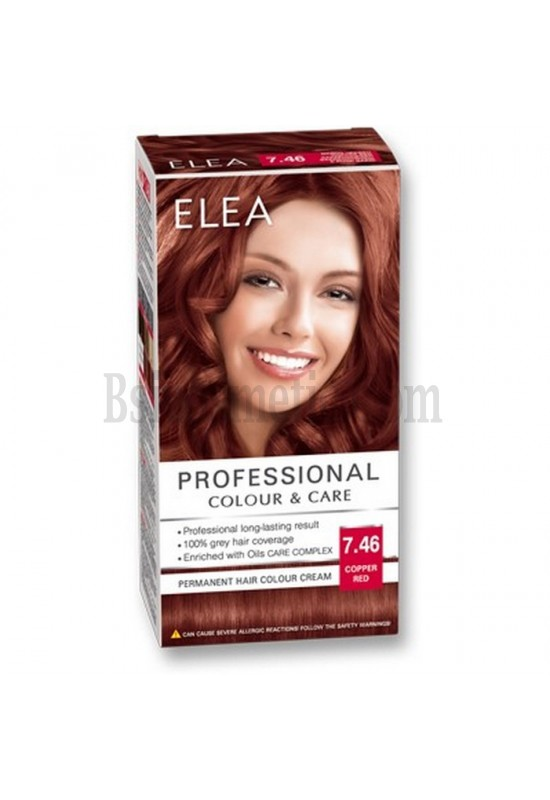 "ELEA Боя за коса ""Elea Professional Colour & Care"" - № 7/46 Медно червен"