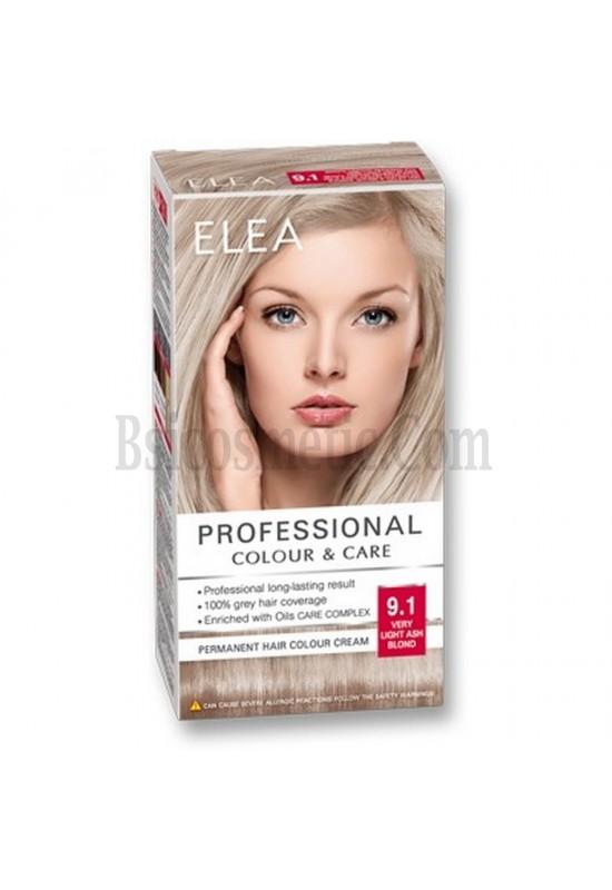 "ELEA Боя за коса ""Elea Professional Colour & Care"" - № 9/1 Много светло пепелно рус"