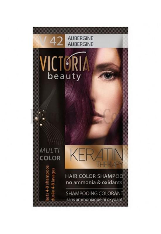 Victoria Beauty V 42 AUBERGINE / AUBERGINE / ПАТЛАДЖАН 40 гр