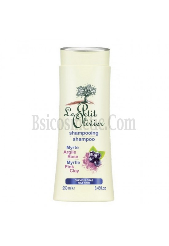 LE PETIT OLIVIER Почистващ шампоан с розова глина и мирта
