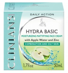 Clinians HYDRA активен овлажняващ крем с ябълкова вода и цинк за нормална и комбинирана кожа