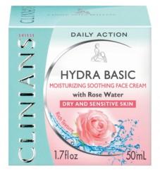 Clinians Овлажняващ защитен крем за чувствителна кожа с розово масло