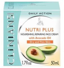 Clinians Nutri Plus Комбиниран подхранващ крем за лице с авокадо