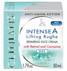Clinians INTENSE A дневен възстановяващ крем изглаждащ бръчките с ретинол и витамини А+Е