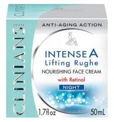 Clinians INTENSE A нощен интензивен изглаждащ бръчките крем с ретинол и витамини А+Е