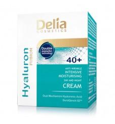 DELIA 40+ Хидратиращ крем против бръчки дневен и нощен