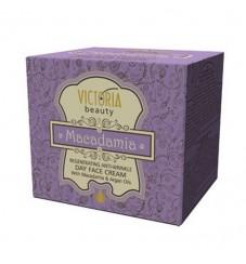 Victoria Beauty Регенериращ крем за лице против бръчки - дневен с Масла от Макадамия и Арган 50 мл.