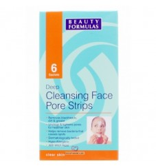 Beauty Formulas Дълбоко почистваща черни точки маска за лице 6бр.