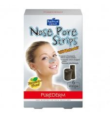 Purederm Лепенки за почистване на нос Активен въглен 6 бр.