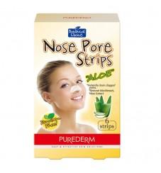 Purederm Лепенки за почистване на нос Алое 6 бр.