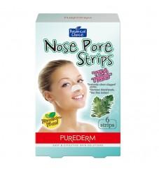 Purederm Лепенки за почистване на нос Чаено дърво 6 бр.