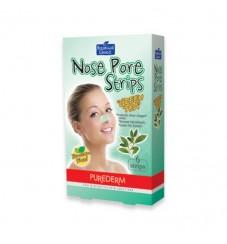 Purederm Лепенки за почистване на нос Зелен чай 6 бр.