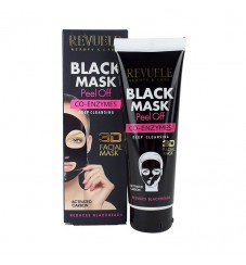 Revuele Черна маска за лице с активен въглен и ко-ензими 80 мл
