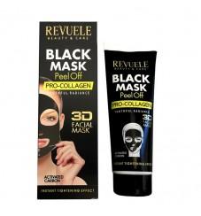 Revuele Черна маска за лице с активен въглен и про-колаген 80 мл