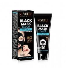 Revuele Черна пилинг маска за лице с активен въглен и хиалуронова киселина 80 мл