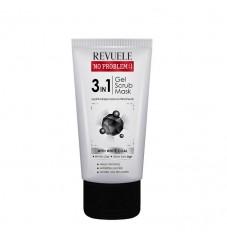 Revuele No Problem 3в1 гел, скраб и маска с активен въглен 150мл