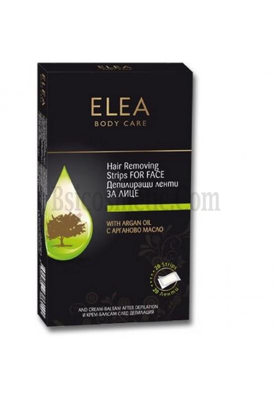 ELEA Депилиращи ленти за лице с Арганово масло - 20 бр.