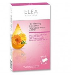ELEA Депилиращи ленти за тяло с невен - 20 бр.