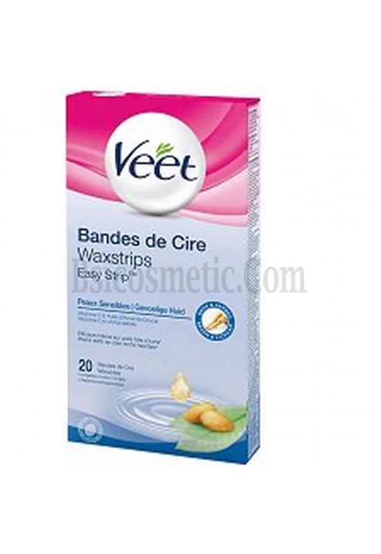 Veet Депилиращи ленти за тяло за чувствителна кожа - 20 бр.