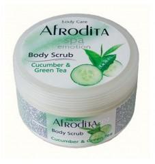 Afrodita скраб за тяло Краставица и зелен чай 350 мл