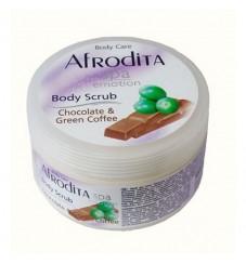 Afrodita скраб за тяло Шоколад и зелено кафе 350 мл