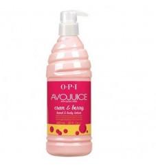 O.P.I Лосион за ръце и тяло Avojuice Cran&Berry - 250/600 мл.