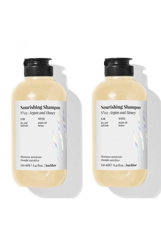 Комплект 2 броя Хидратиращ шампоан Farmavita Backbar Nourishing Shampoo 250мл.
