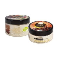 Комплект Скраб за тяло с антицелулитно действие и Сорбе за тяло с млечни протеини и аромат на Кафе Linea Bio