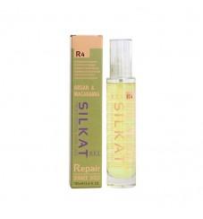 Подхранващо олио за увредена коса с кератин и макадамия BES Silkat Repair R4 Shimmer Shield