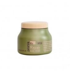 Възстановяваща маска за увредена коса с кератин и макадамия BES Silkat Repair R2 Magic Potion