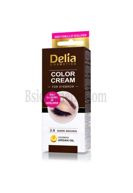 Delia Къна за вежди-тъмно кафяв 15 мл