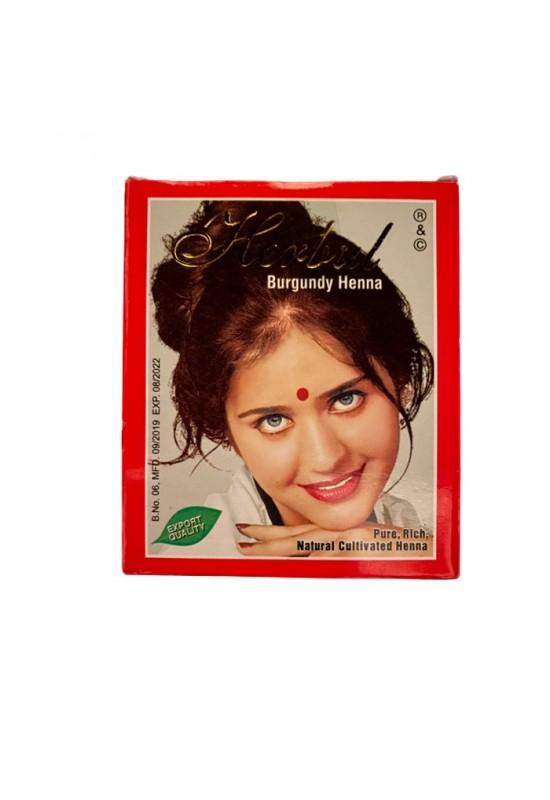 Индийска къна за коса Herbul Бургунди