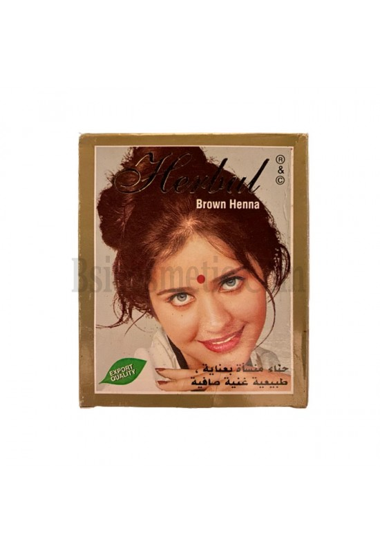 Индийска къна за коса Herbul Кафяво