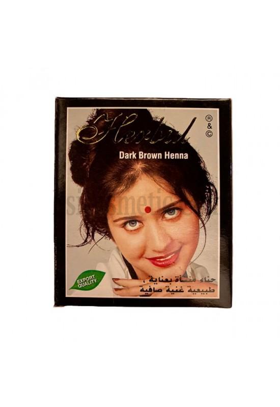 Индийска къна за коса Herbul Тъмно Кафяво